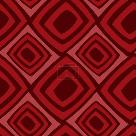 Illustration for Seamless background from red stylized squares - Royalty Free Image