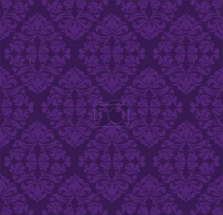 Illustration for Vintage beautiful seamless purple pattern - Royalty Free Image