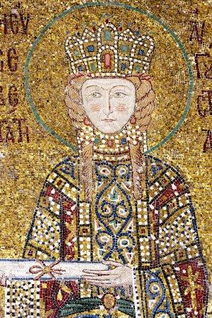Mosaic picture in Hagia Sophia