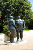 Sculpture of Adam and Eve in Monte - Carlo