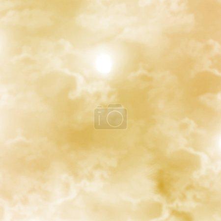Photo pour Fond abstrait, nuages blancs dans le ciel beige . - image libre de droit