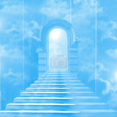 Photo for The stairway to heaven leading to God - Royalty Free Image