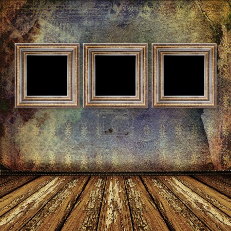 Photo for Interior of the old room with the former remains of luxury - Royalty Free Image
