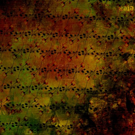Grunge abstract background with old torn posters with blur text