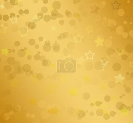 Beautiful golden background with blur bokeh effect
