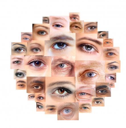 Photo for Set of Different Open Eyes - Royalty Free Image
