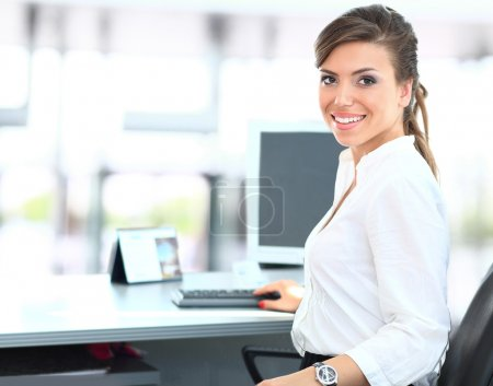 Photo for Modern business woman in the office - Royalty Free Image