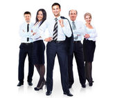 Skupina obchodního týmu lidí. izolované na bílém pozadí