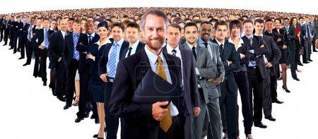 Photo pour Grand groupe de gens d'affaires - image libre de droit