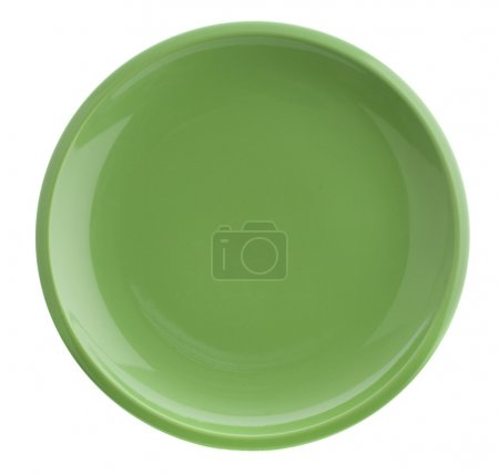 Photo for Green plate - Royalty Free Image