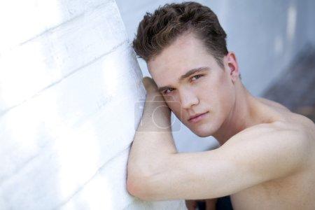 Closeup portrait of young man