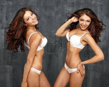 Two Sexy underwear models