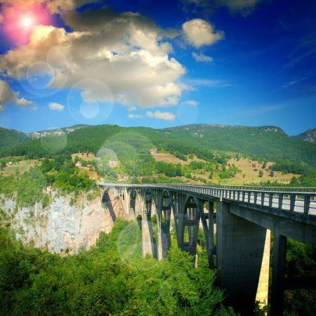 High Montenegro bridge...