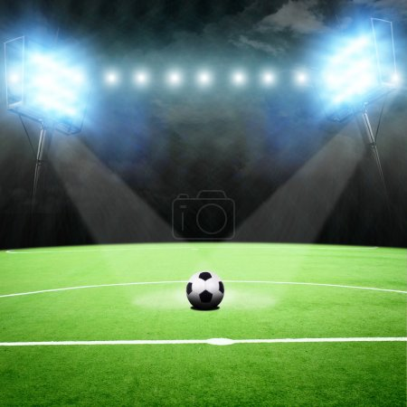 soccer stadium with the bright lights