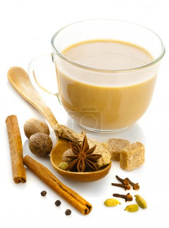 Photo for Indian masala tea with spices - Royalty Free Image