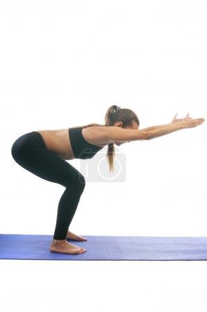 Chair yoga position