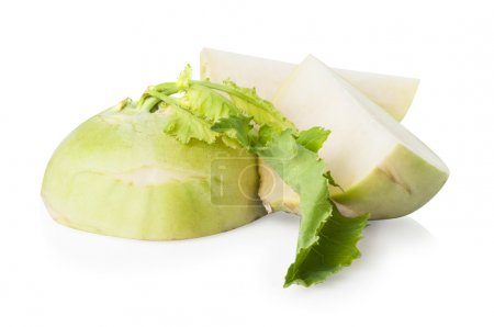 Cutted kohlrabi cabbage