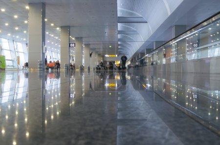 Interior of Borispil Airport, Ukraine