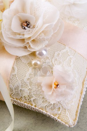 Wedding Pillow with flowers