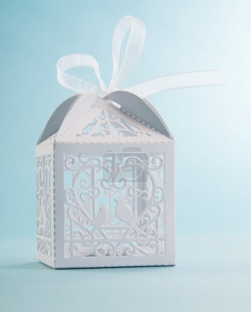 Creative white present box