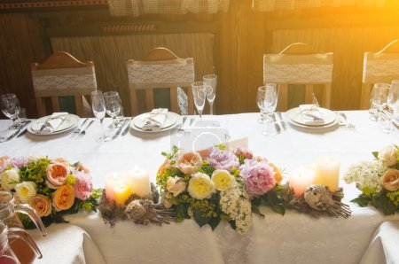 Table decorated for event party