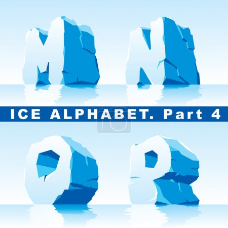 Illustration for Vector set of ice letters. Part 4 - Royalty Free Image