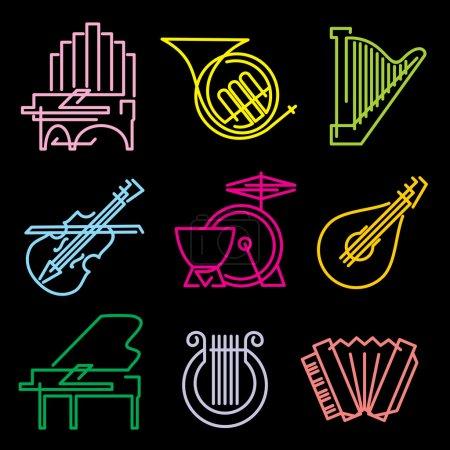 Symbols musical instruments