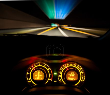 Speeding car dashboard