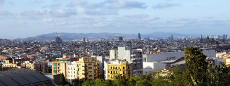 Barcelona from Montjuic hill. Catalonia