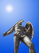 Statue of king Leonidas in Sparta, Greece