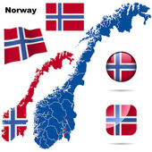 Norway vector set