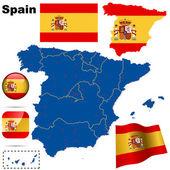 Španělsko vektorové sada