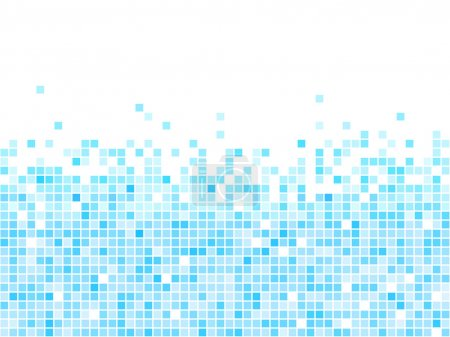Illustration for Abstract blue mosaic vector background with white copy space. - Royalty Free Image