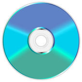 Blue and green compact disc