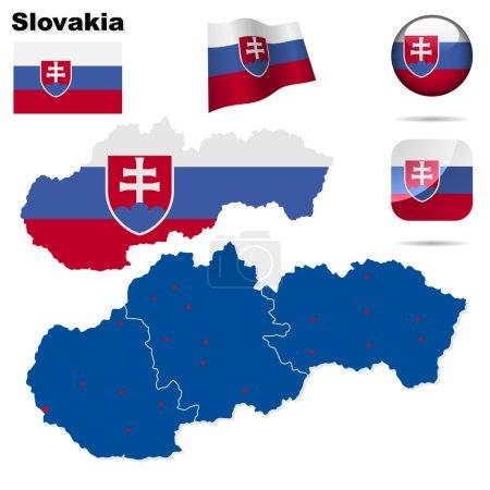 Slovakia vector set.