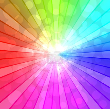 Illustration for Colorful spectrum vector background. EPS10 file. - Royalty Free Image