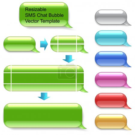 Resizable SMS chat vector template