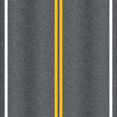 Asphalt road vector texture with marking lines
