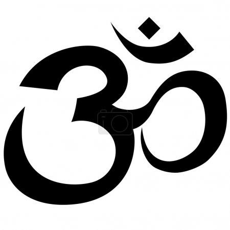 Hindu symbol outline isolated on white background....