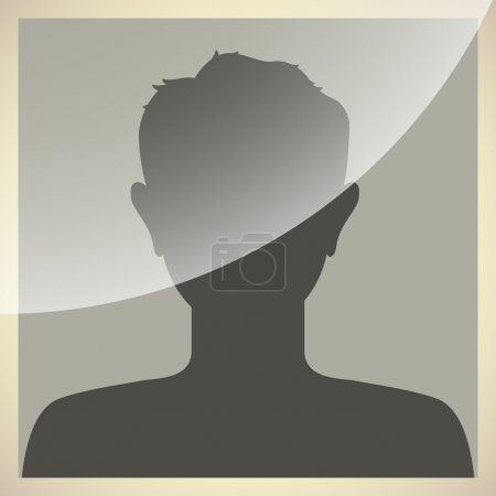 Default internet avatar in old photo frame style.