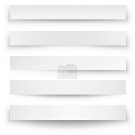 Illustration for Header blank web banner shadow template isolated on white background. - Royalty Free Image