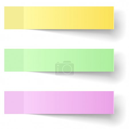 Illustration for Color sticky notes vector template with shadow. - Royalty Free Image