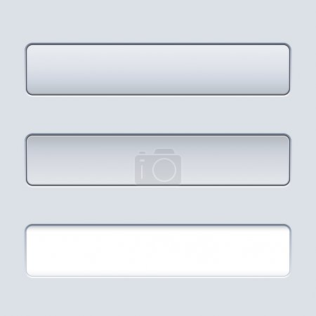 Interface rectangular button template with text field.