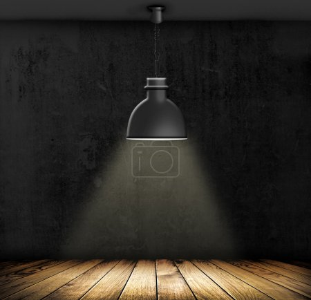 Photo for Light on wooden floor in empty room - Royalty Free Image