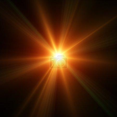Photo pour Éclairage de concert sur fond sombre ilustration - image libre de droit