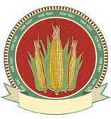Corn labelVector retro image