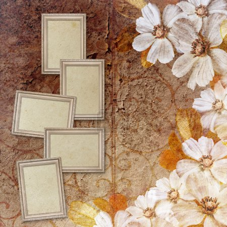 Photo for Vintage background with frames - Royalty Free Image
