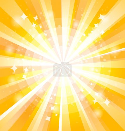 Yellow bright background with rays