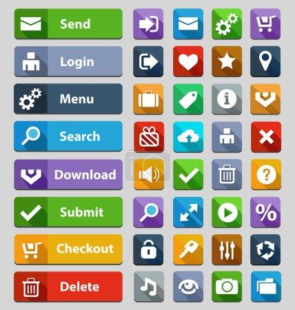 Web design buttons set