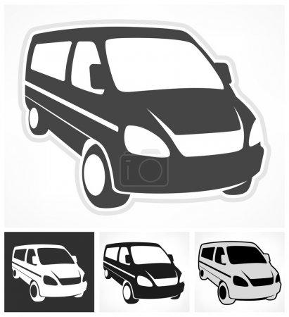 Illustration for Set of vans on white, design element, vector illustration - Royalty Free Image